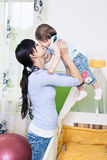 Woman with a toddler Royalty Free Stock Image
