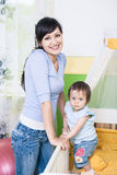 Woman with a toddler Stock Photography