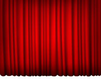 Indoor red silk curtain Royalty Free Stock Photography
