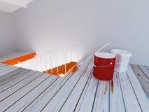 Indoor repairing works, 3d Royalty Free Stock Photo