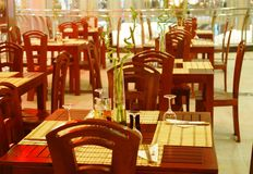 Indoor restaurant. An image of a restaurant in a shopping mall Royalty Free Stock Images