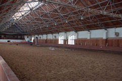 Indoor riding hall Stock Photo