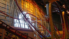 Indoor Rollercoaster Royalty Free Stock Photos