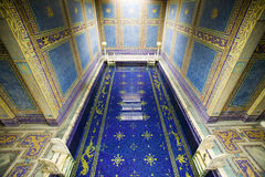 Indoor Roman Pool at Hearst Castle, San Simeon, California, where many celebrities went swimming Royalty Free Stock Images