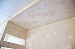 Indoor room maintenance, walls stock photo