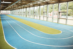 Indoor running track Royalty Free Stock Image