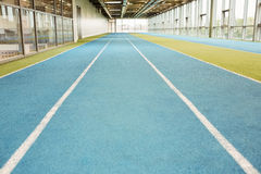 Indoor running track Royalty Free Stock Photography