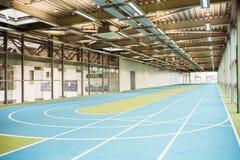Indoor running track Stock Image