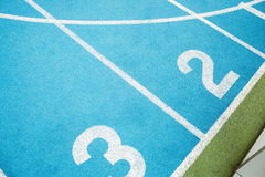 Indoor running track Stock Photo