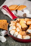 Indoor s'mores, baked s'mores dip Stock Photo