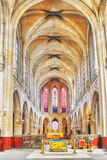 Indoor Saint-Germain l`Auxerrois Church, near Louvre. It`s const Royalty Free Stock Images