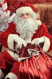 Indoor santa Royalty Free Stock Photos