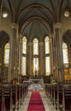 Indoor scene of the gothic Chruch of St Anthony of Padua Stock Photo