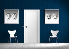 Free Indoor Scene With Blue Wall Stock Images - 15336384