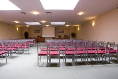 Indoor seminar room interior Royalty Free Stock Photography