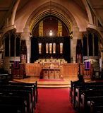 Indoor setting church interior Stock Photos