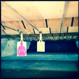 Indoor shooting range Royalty Free Stock Photo