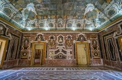 Indoor sight in the beautiful Villa Palagonia in Bagheria, near Palermo. Sicily, Italy. royalty free stock photo