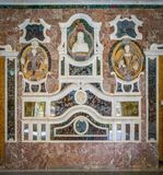 Indoor sight in the beautiful Villa Palagonia in Bagheria, near Palermo. Sicily, Italy. royalty free stock image