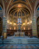 Indoor sight in Sant Andrea Church in Spello, Umbria, Italy. royalty free stock photos