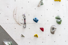 Indoor simulation crag wall Stock Images