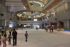 Indoor skating rink in Shenzhen Yitian Holiday Plaza Royalty Free Stock Photo