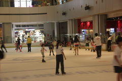 Indoor skating rink in Shenzhen Yitian Holiday Plaza Royalty Free Stock Image