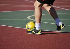 Indoor soccer player Royalty Free Stock Photos