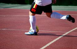 Indoor soccer player Stock Image