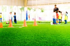 Indoor sport training ground abstract blur. Children indoor sport training ground abstract blur royalty free stock image