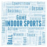 Indoor Sports word cloud. Wordcloud made with text only vector illustration