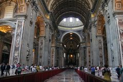 Indoor St. Peter's Basilica Stock Photos