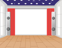 Indoor Stage Royalty Free Stock Photography