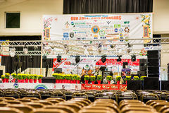 Indoor stage for Vietnamese Tet Festival 2015. This stage held the main event for the Vietnamese Tet Festival 2015 at the Santa Clara Fair Grounds, which attract Stock Photos