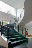 Indoor Stair. Indoor Concrete Stair to Second Floor Stock Photo