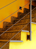 Indoor stairs. In a modern house Royalty Free Stock Photography