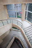Indoor stairs. In a modern hall Royalty Free Stock Photo