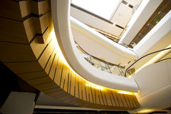 Indoor structure. Building gold decoration color Royalty Free Stock Photo