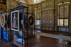 Indoor of Stupinigi Palace in Turin, Italy Stock Images