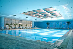 Indoor swimming pool Royalty Free Stock Photography