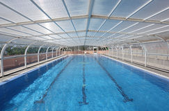Indoor swimming pool. A large indoor swimming pool Stock Images