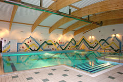 Indoor swimming pool Stock Image