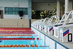 Indoor swimming pool Stock Photos