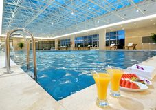 Indoor swimming pool. In the hotel Stock Images