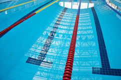 Indoor swimming pool background Royalty Free Stock Image
