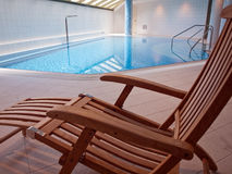Indoor swimming pool with clean blue water Royalty Free Stock Photo