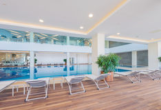 Indoor swimming pool in healthy concept Stock Images