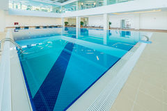 Indoor swimming pool in healthy concept. The indoor swimming pool in healthy concept Stock Photography