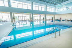 Indoor swimming pool in healthy concept Royalty Free Stock Images