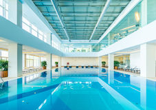The indoor swimming pool in healthy concept Royalty Free Stock Photos